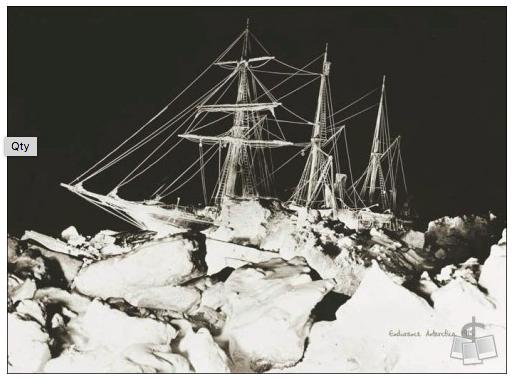 """""""Night Ship Port side 1"""" - courtesy of Shackleton Endurance Photography"""