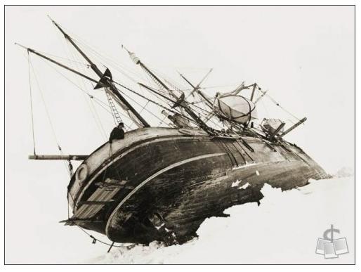 """Endurance rear port Side 1"" - courtesy of Shackleton Endurance Photography"