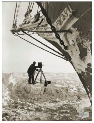 """""""Frank Hurley under the Bow 1"""" - courtesy of Shackleton Expedition Photography"""