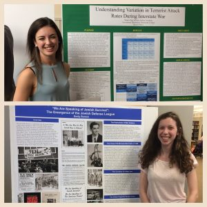 Megan Ong (top) and Emily Burack (bottom), both members of the class of 2017, were winners of the first Undergraduate Thesis Library Research Award