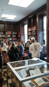 Students in Sherman Art Library