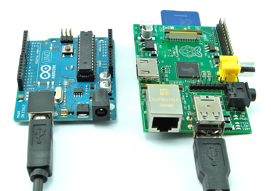 Arduino and Raspberry Pi boards