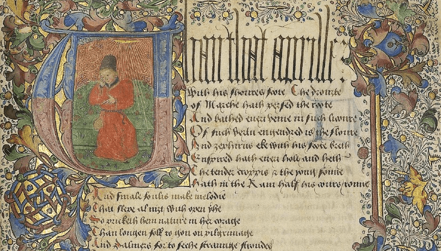 Image from the Devonshire Chaucer.