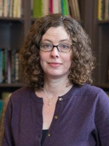 A portrait of Laura Edmondson, associate professor of theater, and program administrator for African and African American studies and women's and gender studies.