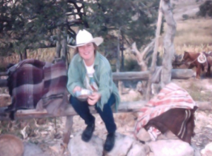 Mirtha in her father's ranch.
