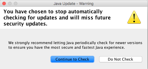 Turn off Java Updates – Academic Technology Consulting
