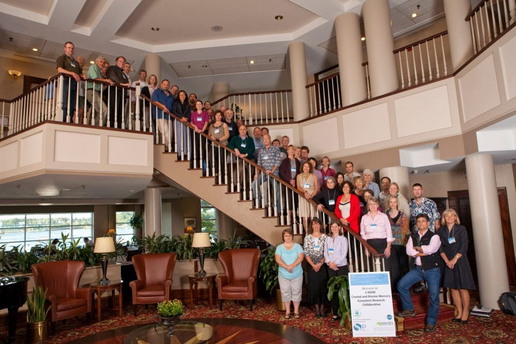 CMERC conference group on stairs