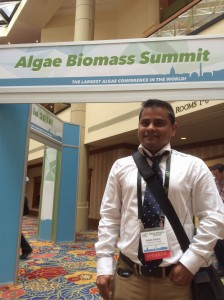 Research Associate Pallab Sarker represents our lab at the 2015 Algae Biomass Summit in Washington, DC.
