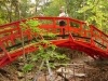 The bridge (el puente para cruzar al otro lado/The bridge to the other side) and archway (Torii) that Keysi built in his backyard here in New Hampshire.