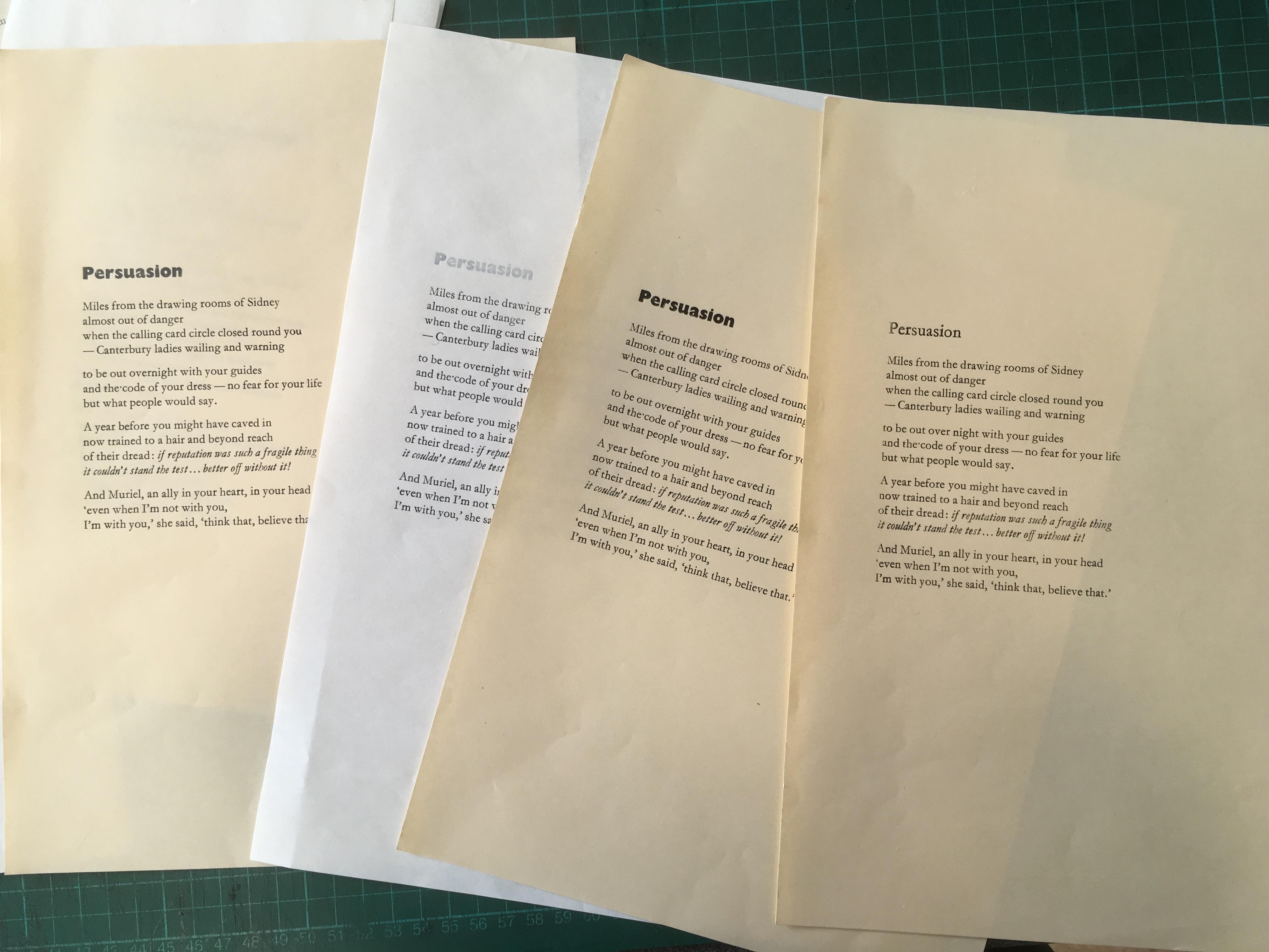 Setting, Proofing and Plotting | Big Green Kiwi