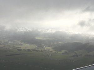 Flying in to Dunedin