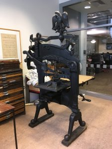 The Columbian hand press