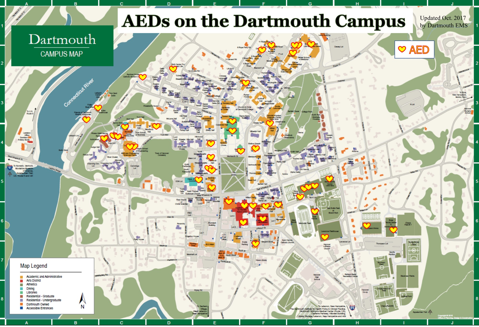 Best Dartmouth Campus Map Pics - Printable Map - New - bartosandrini.com