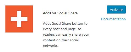 AddThis Social Share plugin