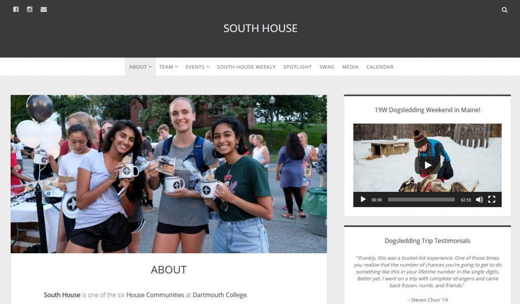 South House website