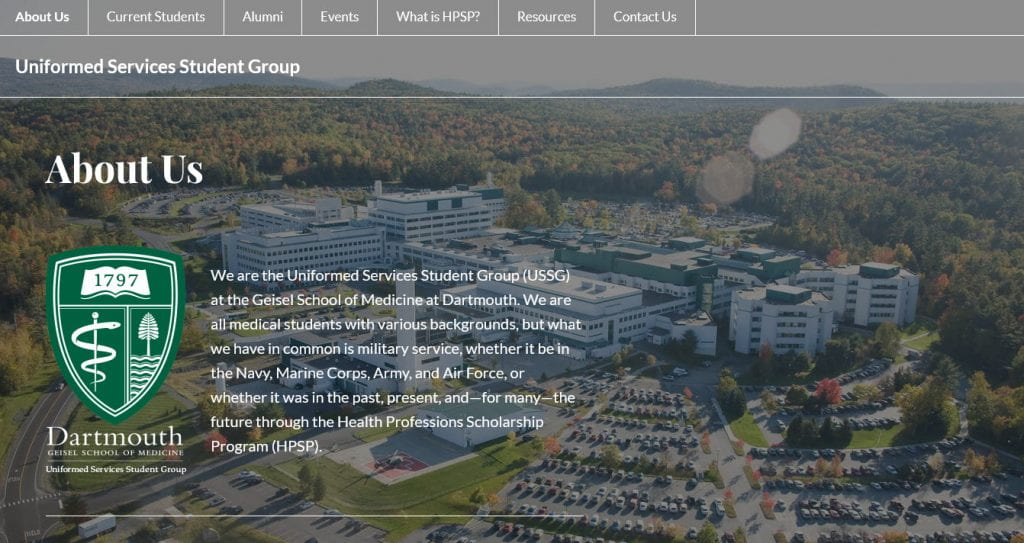 Uniformed Services Student Group screenshot