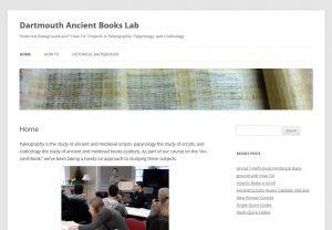 Dartmouth Ancient Books Lab screenshot