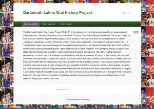 Dartmouth Latino Oral History Project screenshot