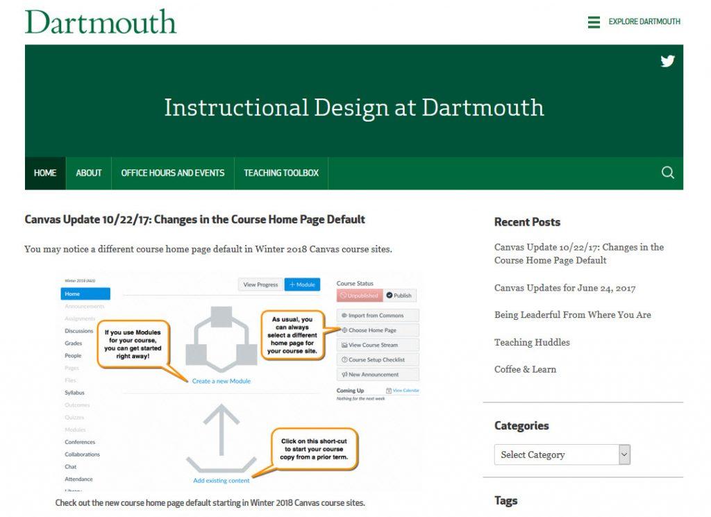 Instructional Design screenshot