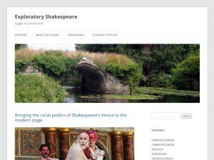 Exploratory Shakespeare screenshot