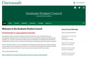 Graduate Student Council screenshot