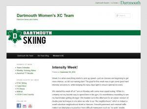 Dartmouth Women's XC Team screenshot