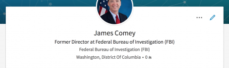 James Comey Updates His LinkedIn