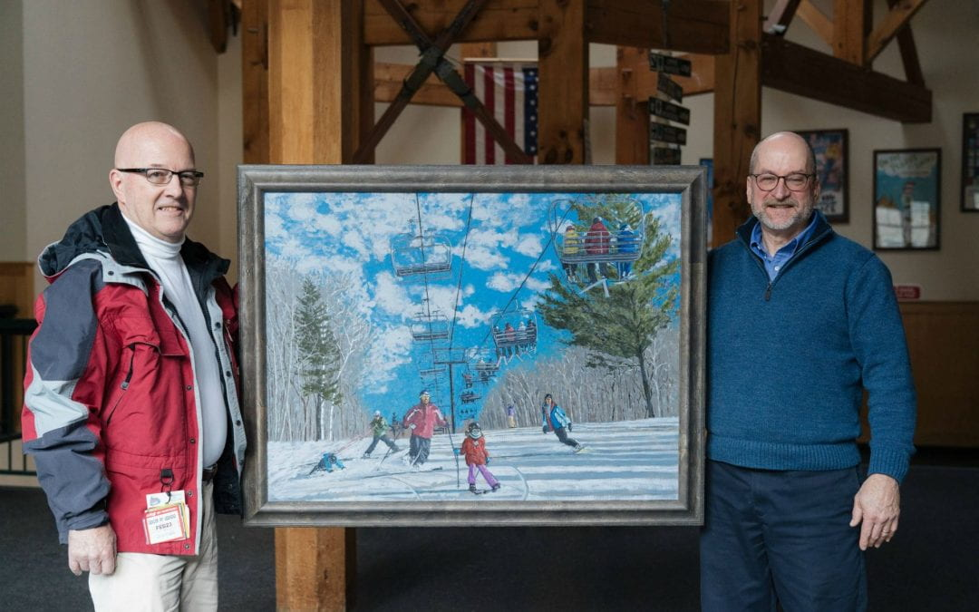 A New Painting Brings the Skiway to Life