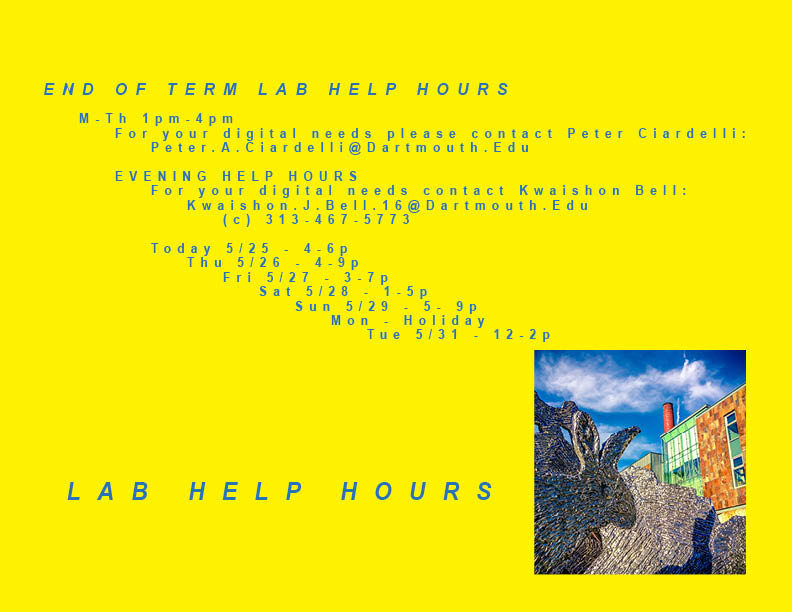 spring end of term lab  hours