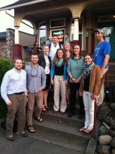 At JASM '14 in Portland, Oregon, with current students, alumni, and academic grandchildren at Virginia Tech