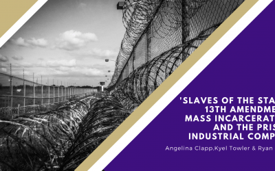 'Slaves of the State': 13th Amendment, mass incarceration and the prison industrial complex