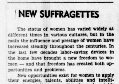 """""""New Suffragettes,""""  The Daily News Record, March 31, 1967 Harrisonburg, VA"""