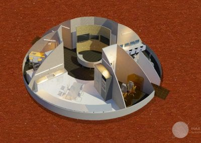 Martian Habitat Interior Overview 1