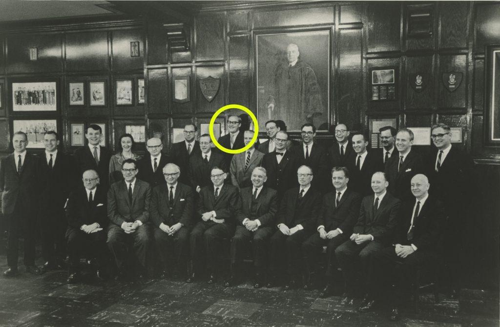 Thompson 1966 Faculty Photo
