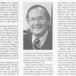 Minow Alumni Medal 1978