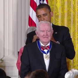 Stevens received the Presidential Medal of Freedom in 2012