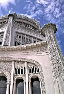 Traceries on The Baha'i House of Worship's pillars incorporated all the religious symbols of the world.