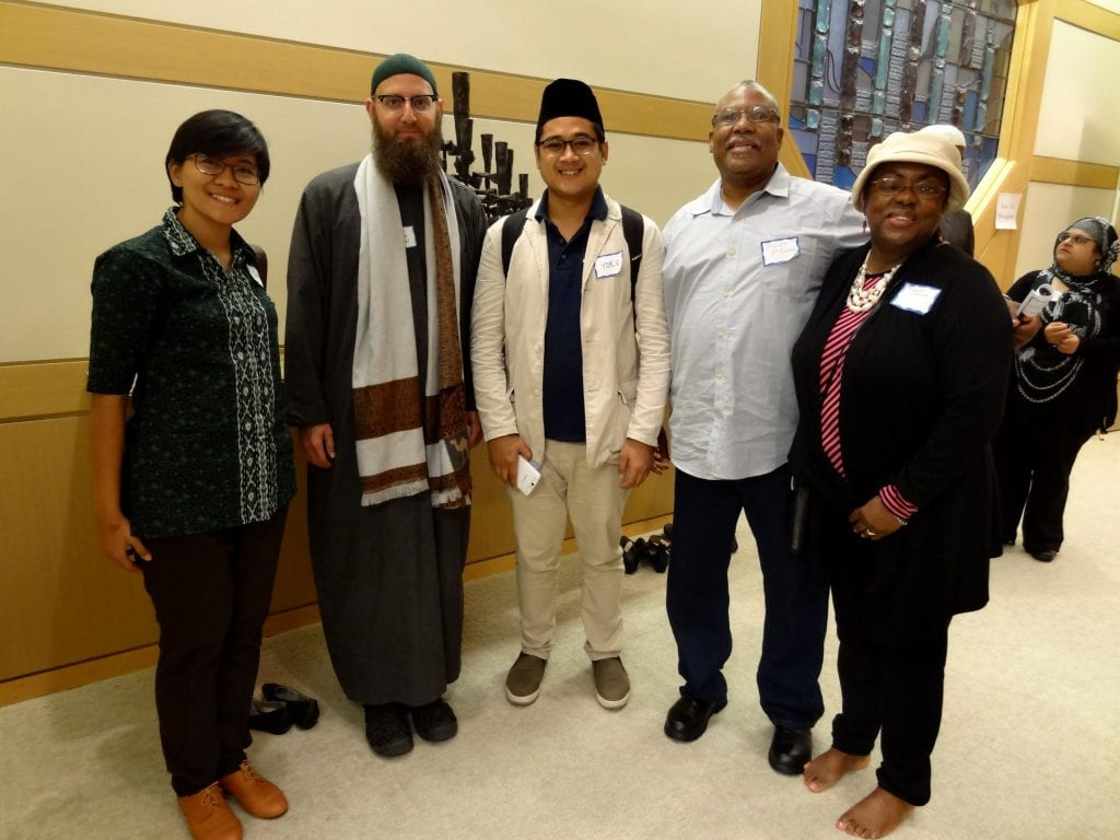 From left to right: Sabina, Imam Abdul-Malik Ryan, Yoes, Melvin, Theresa Cameron