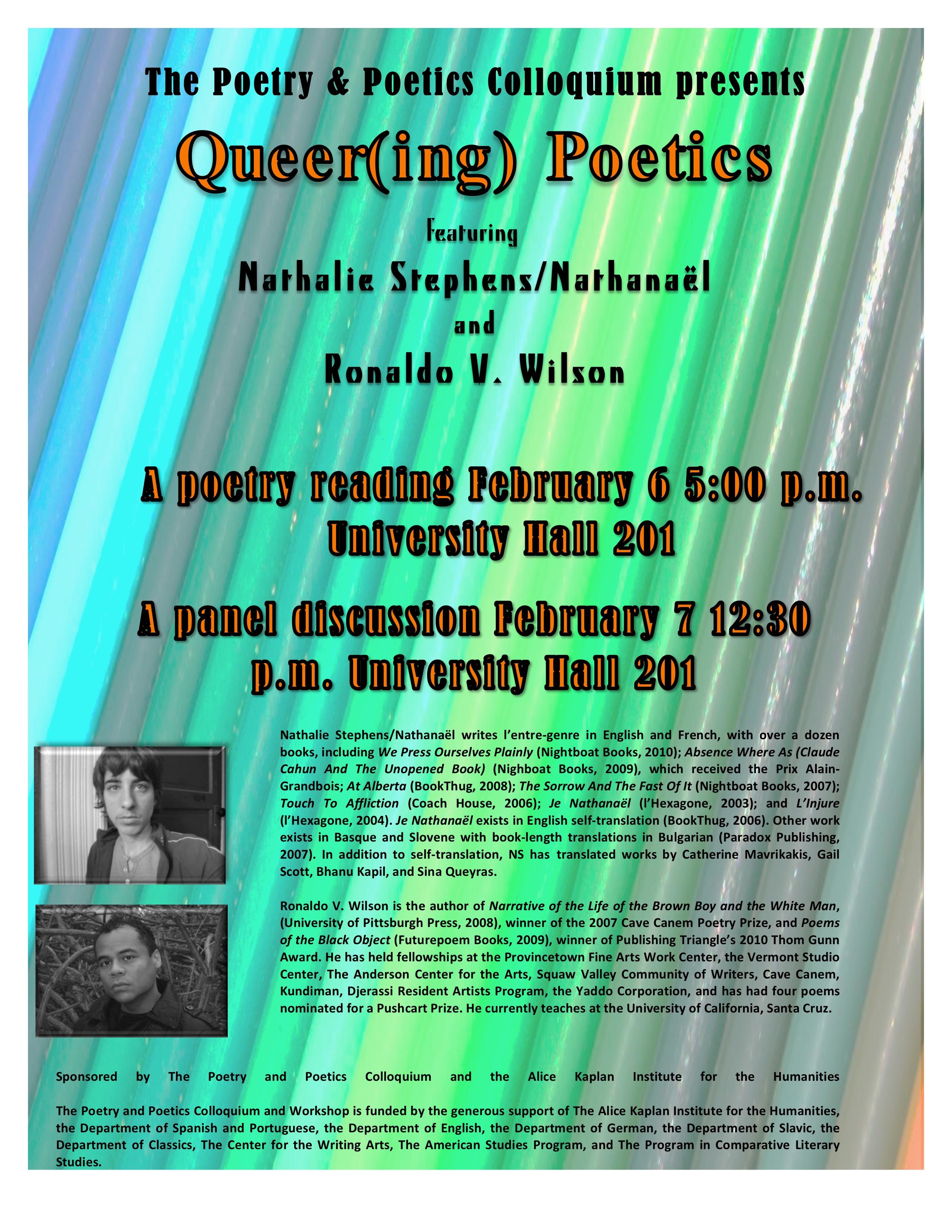 Queering Poetics poster