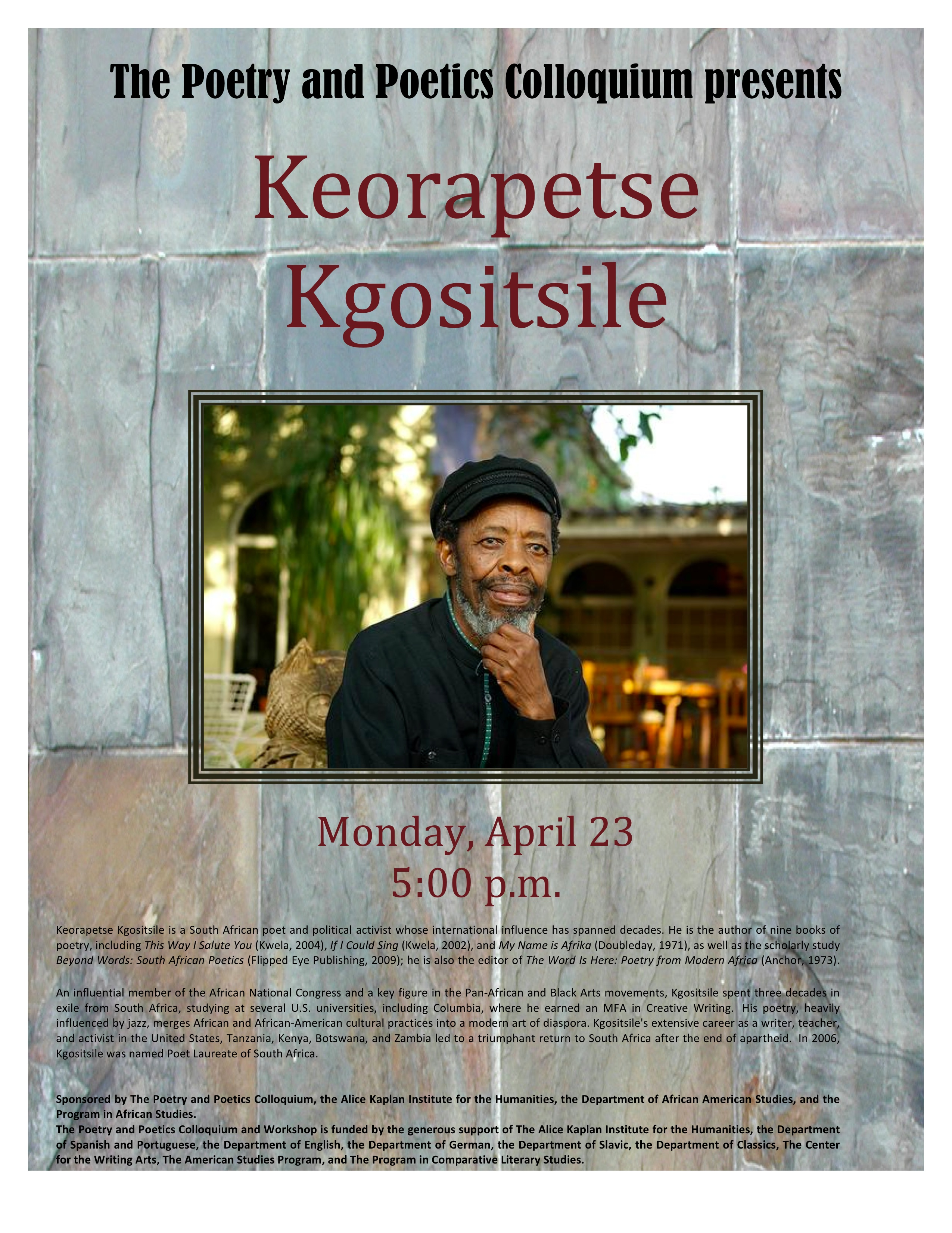Kgositsile poster
