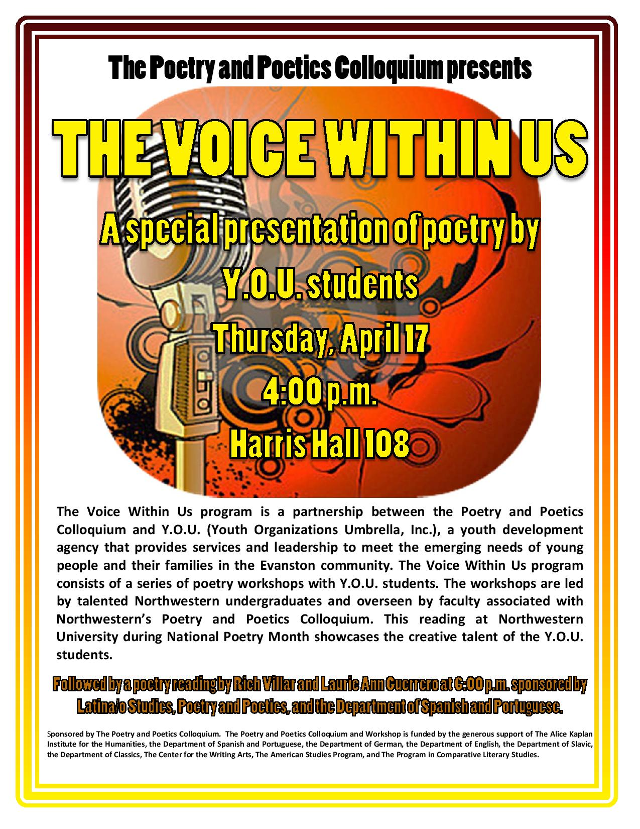the voice within essay In literature, writing style often refers to the manner of expressing thought in language characteristic of an individual, period, school, or nation however.