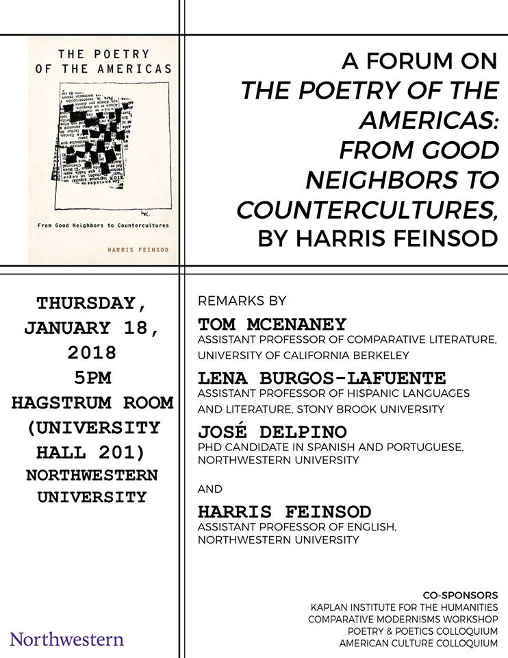 The Poetry And Poetics Colloquium At Northwestern University 2018