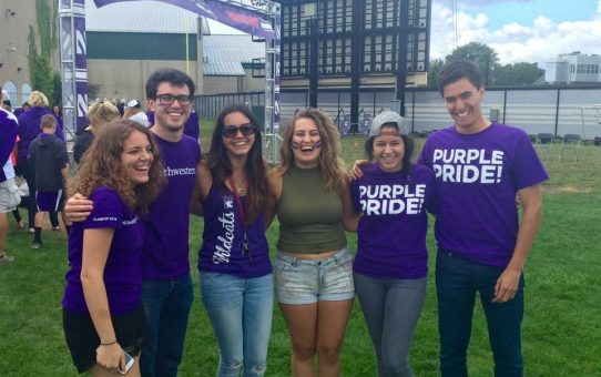 Tomas and friends tailgating at Northwestern