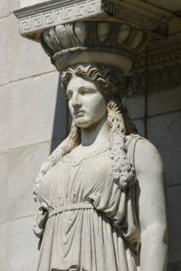 Caryatid detail, Field Museum.