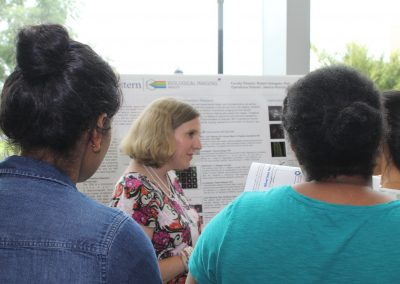 Students engaged at the BIF poster