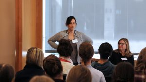Emily Weiss, pictured above, speaks about building confidence in your work.