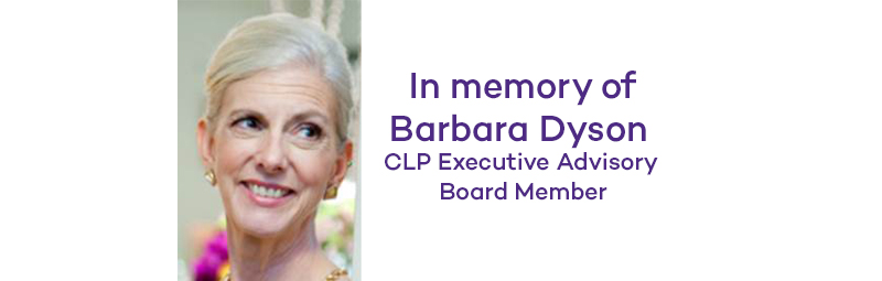 Remembering long time board member Barbara Dyson