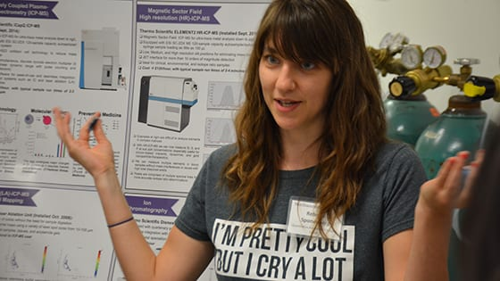 Grad students, researchers talk science at CLP Core Crawl