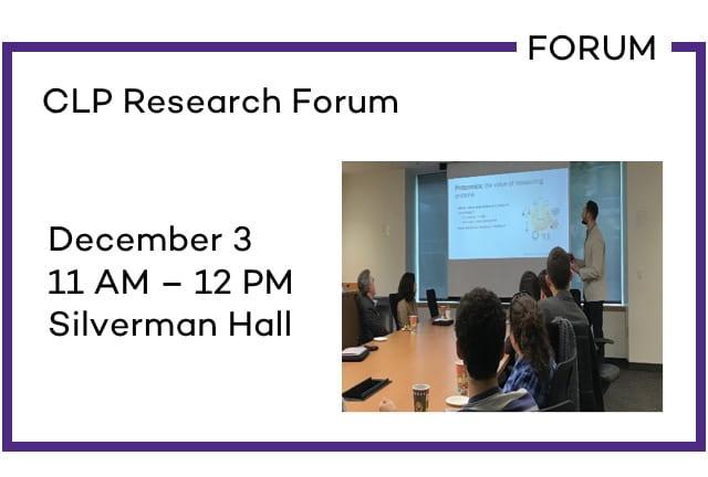CLP Research Forum