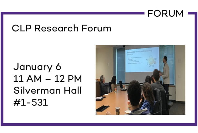 CLP Research Forum
